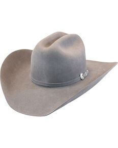Justin Men's Grey 15X Ryder Felt Cowboy Hat , Grey, hi-res