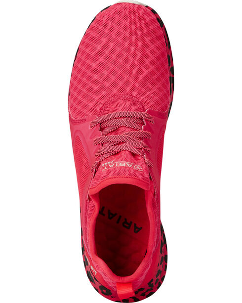 Ariat Women's Fuse Neon Pink Leopard Mesh Shoes , Pink, hi-res