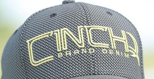 Cinch Men's Grey FLEXFIT® Baseball Cap , Grey, hi-res