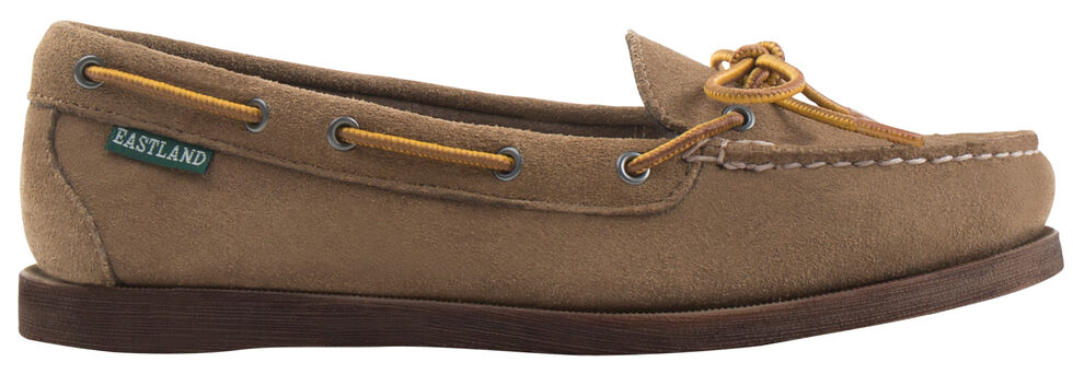 Eastland Women's Khaki Suede Yarmouth Camp Moc Slip-Ons, , hi-res