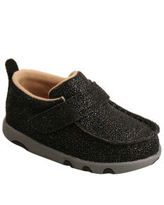 Twisted X Infant Boys' Driving Moc Shoes - Moc Toe, Black, hi-res