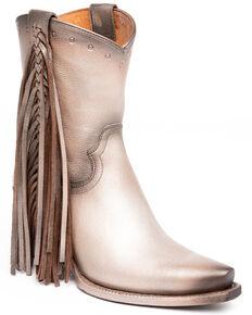Idyllwind Women's Plaity Please Metallic Fashion Booties - Snip Toe, Grey, hi-res