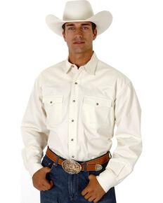 e3280abee8 Roper Mens White Denim Long Sleeve Western Shirt