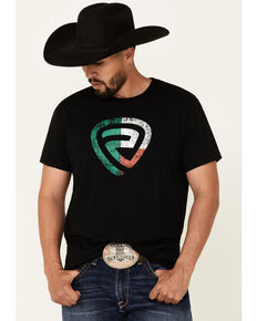 Rock & Roll Denim Men's Mexican Flag Logo Short Sleeve T-Shirt , Black, hi-res