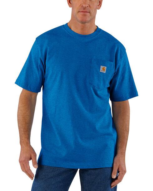 Carhartt Men's Blue Heather Workwear Pocket T-Shirt, Blue, hi-res