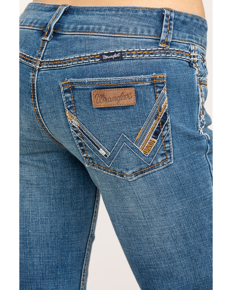 Wrangler Retro Women's Calamity Sadie Low-Rise Bootcut Jeans, Blue, hi-res