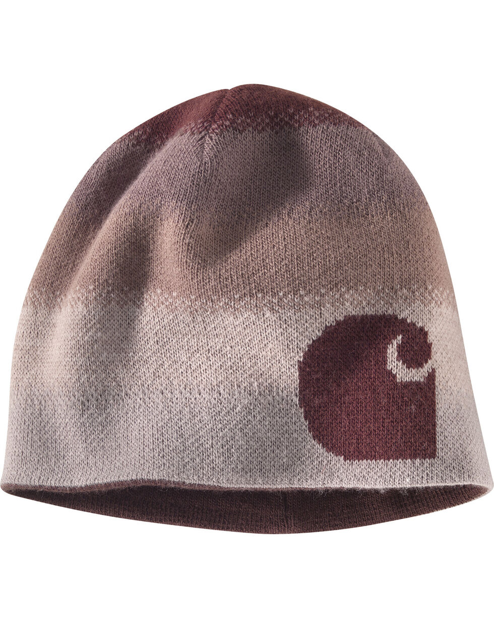 Carhartt Women's Deep Wine Reversible Greenfield Ombre Hat, Wine, hi-res