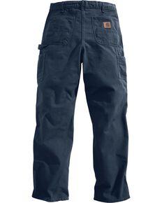 Carhartt Petrol Washed Duck Dungaree Work Pants, Dark Blue, hi-res