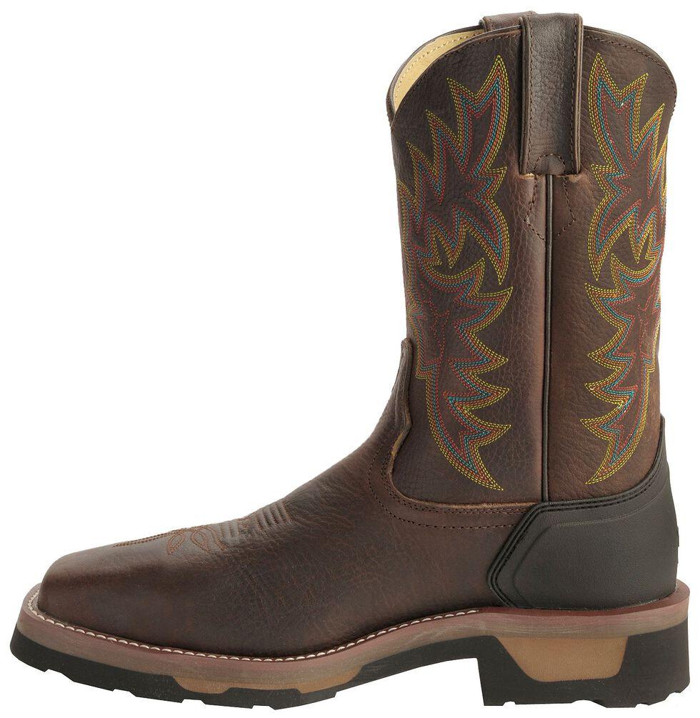 Tony Lama Men's TLX Saddle Pull-On Work Boots - Composite Toe, Bark, hi-res