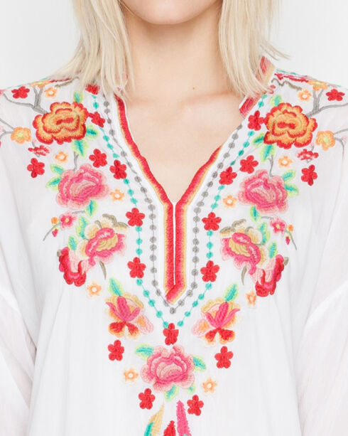 Johnny Was Women's White Blossom Blouse, White, hi-res