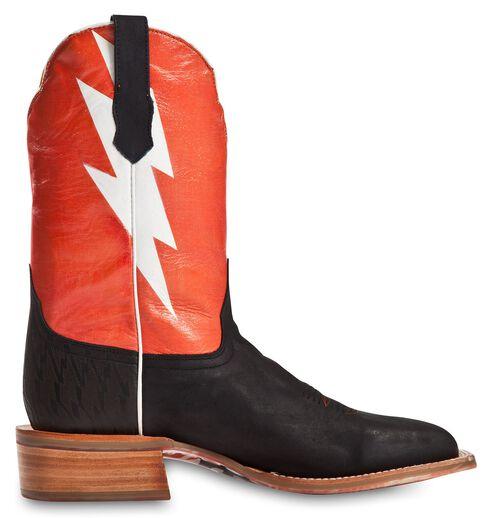 Cinch Edge Bolt Cowboy Boots - Square Toe, Black, hi-res
