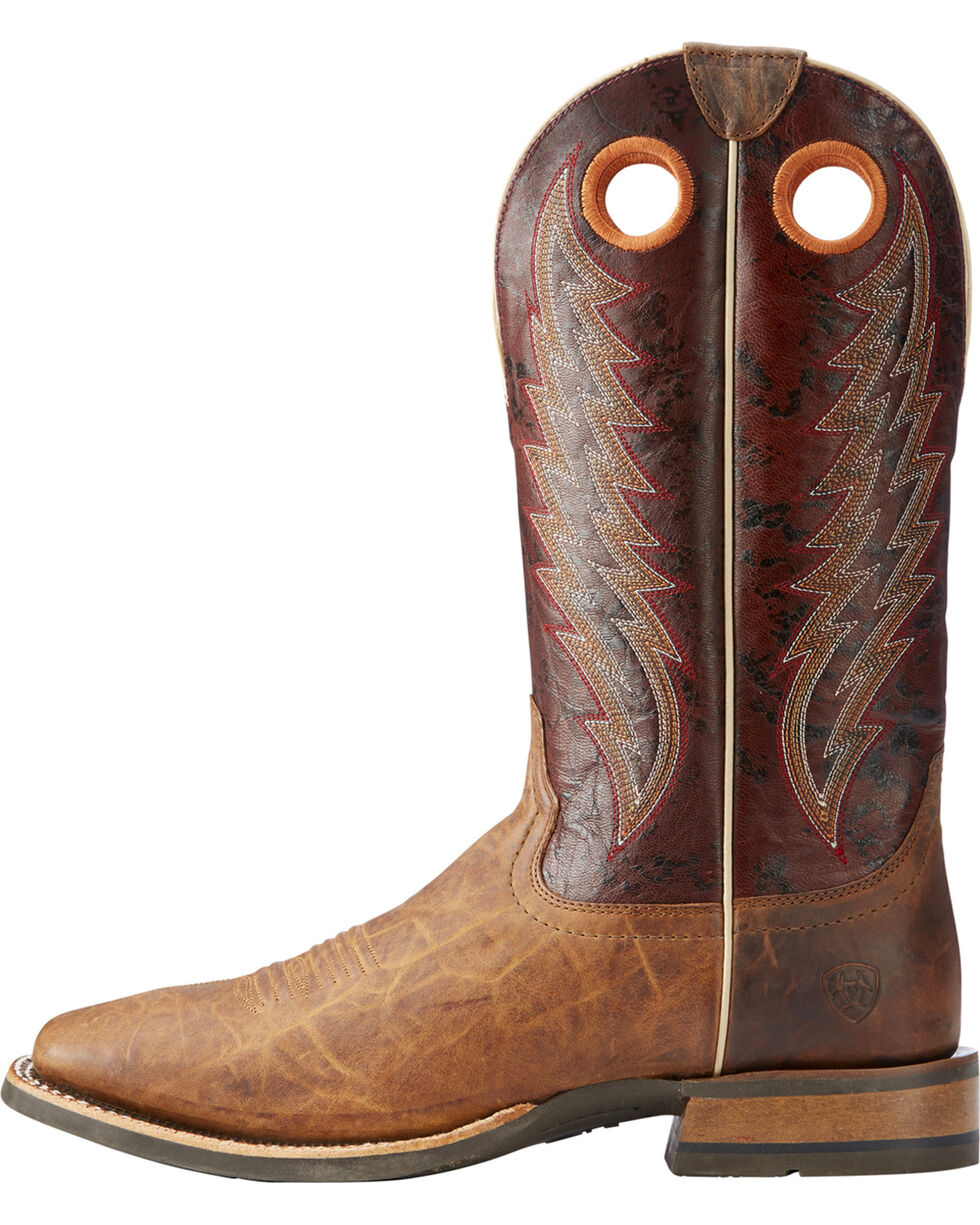 Ariat Men's Tan Branding Pen Western Boots - Square Toe , Tan, hi-res