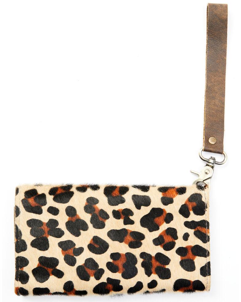 Keep It Gypsy Women's Cowhide Wristlet, Leopard, hi-res
