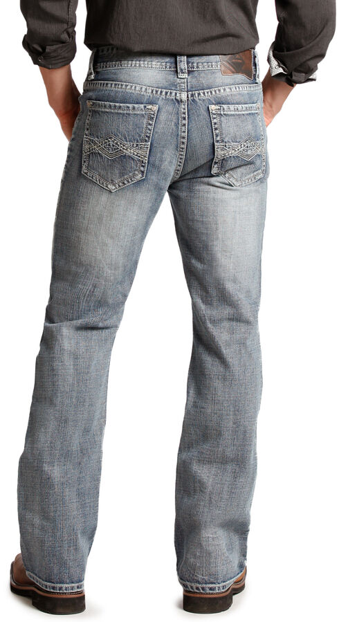 Rock and Roll Cowboy Double Barrel Diamond Relaxed Fit Jeans - Boot Cut , Denim, hi-res