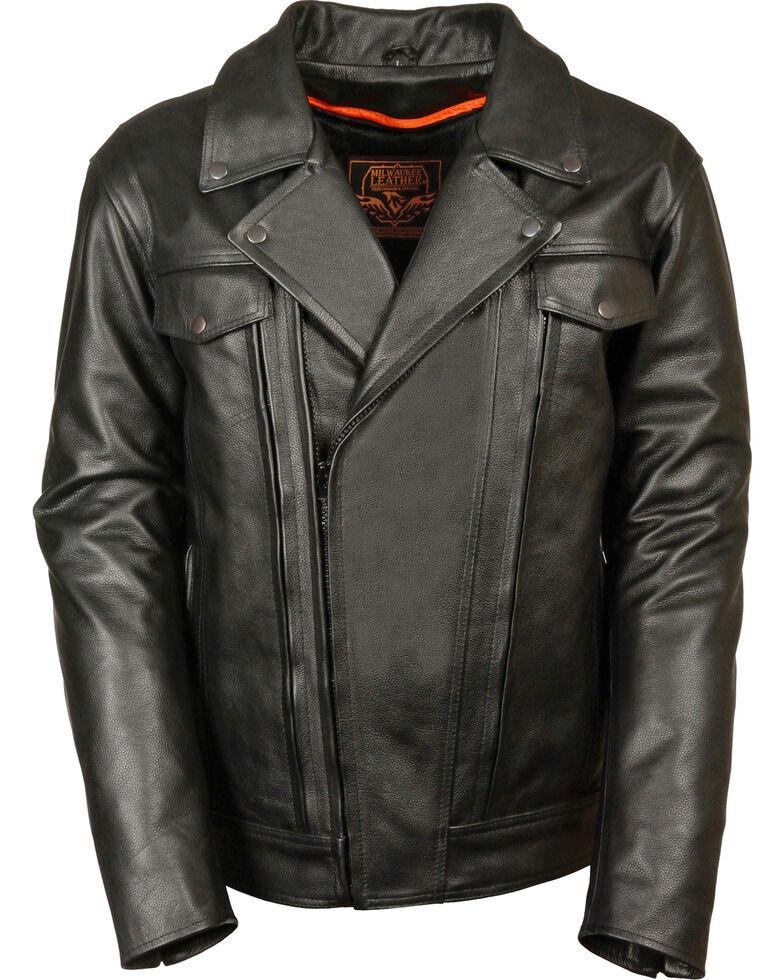 Milwaukee Leather Men's Utility Vented Cruiser Jacket, Black, hi-res