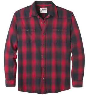 Mountain Khakis Men's Saloon Red Flannel Shirt, Red, hi-res