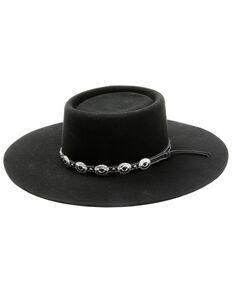 Shyanne Women's Black Telescope Concho Band Wool Felt Western Hat , Black, hi-res