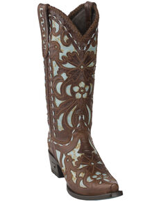 Lane Women's Robin Western Boots - Snip Toe, Turquoise, hi-res