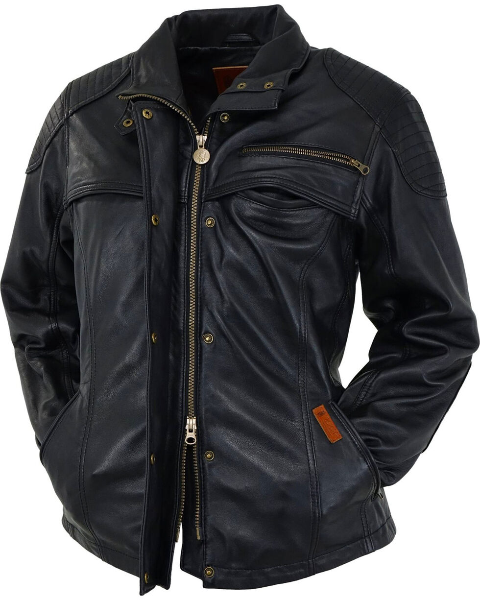 Outback Trading Company Junee Leather Jacket, Black, hi-res