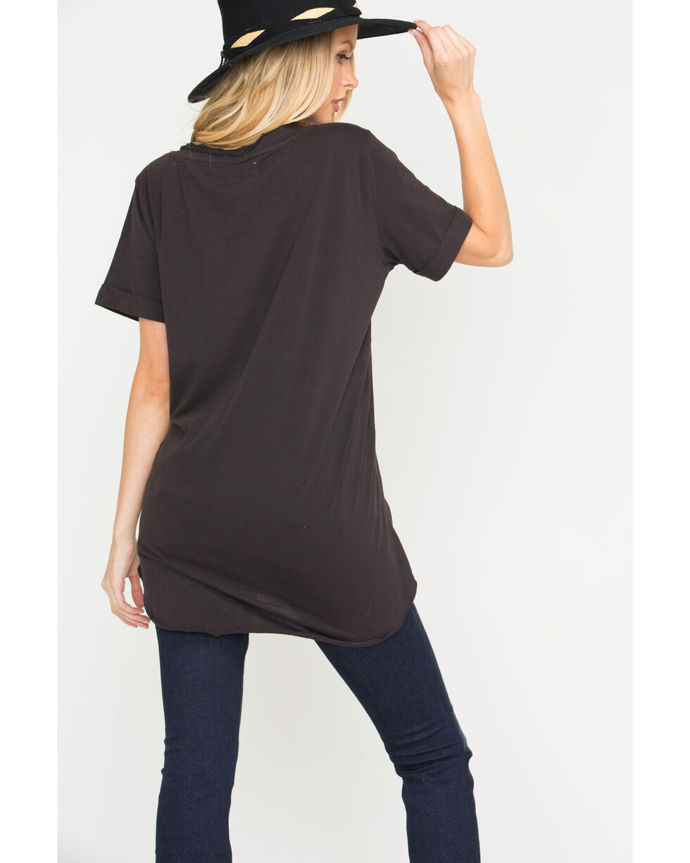 MM Vintage Abstract Beauty Top , Black, hi-res