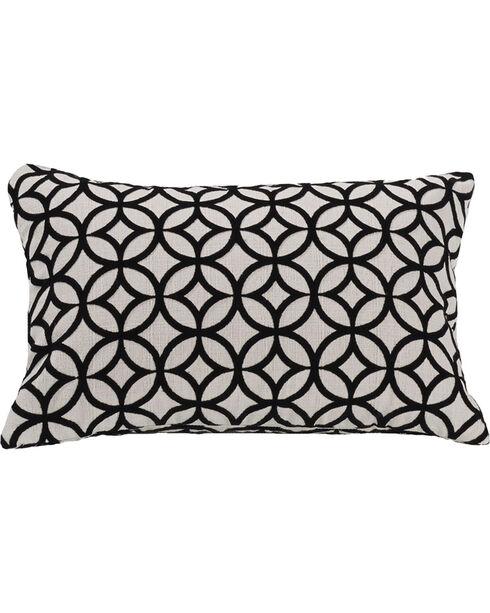 HiEnd Accents Black Augusta Cutted Velvet Pillow, Black, hi-res