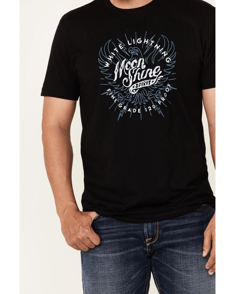Moonshine Spirit Men's Bolt Eagle Logo Short Sleeve T-Shirt , Black, hi-res