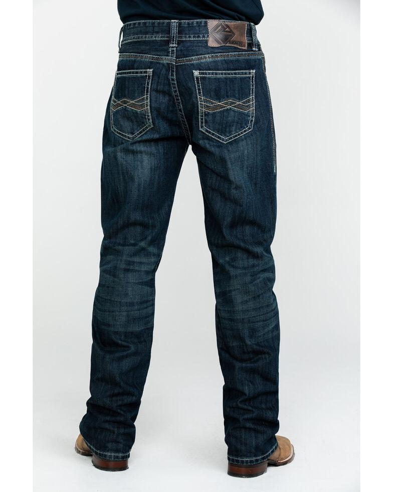 Rock & Roll Cowboy Men's Small W Stitch Double Barrel Dark Straight Jeans , Blue, hi-res