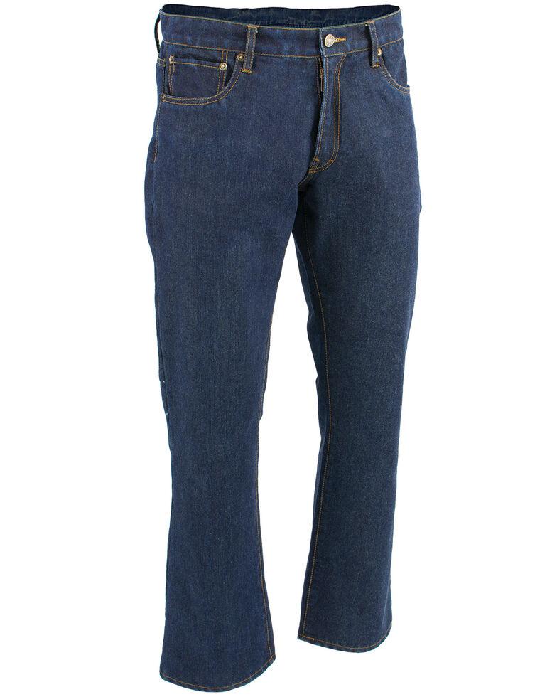 "Milwaukee Leather Men's Blue 34"" Aramid Infused 5 Pocket Loose Fit Jeans, Blue, hi-res"