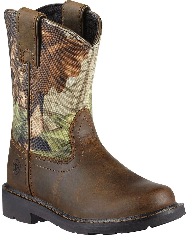 Ariat Boys' Sierra Distressed Cowboy Boots, Brown, hi-res