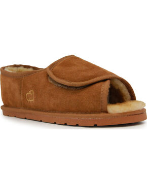 Lamo Footwear Men's Chestnut Open Toe Wrap Shoes , Chestnut, hi-res