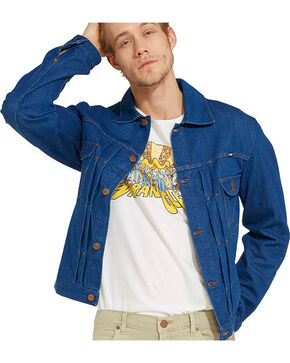Wrangler Men's Navy 70th Anniversary Retro Jacket , Navy, hi-res