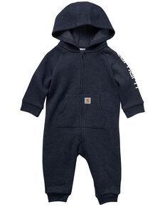 Carhartt Infant Boys' Fleece Zip Front Coverall , Blue, hi-res
