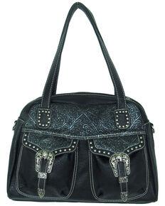 19c831335e Savana Womens Faux Leather Double Pocket Handbag