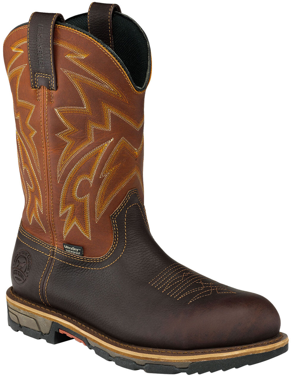 Irish Setter by Red Wing Shoes Men's Waterproof Harvest Gold Marshall Work Boots - Steel Toe , Brown, hi-res