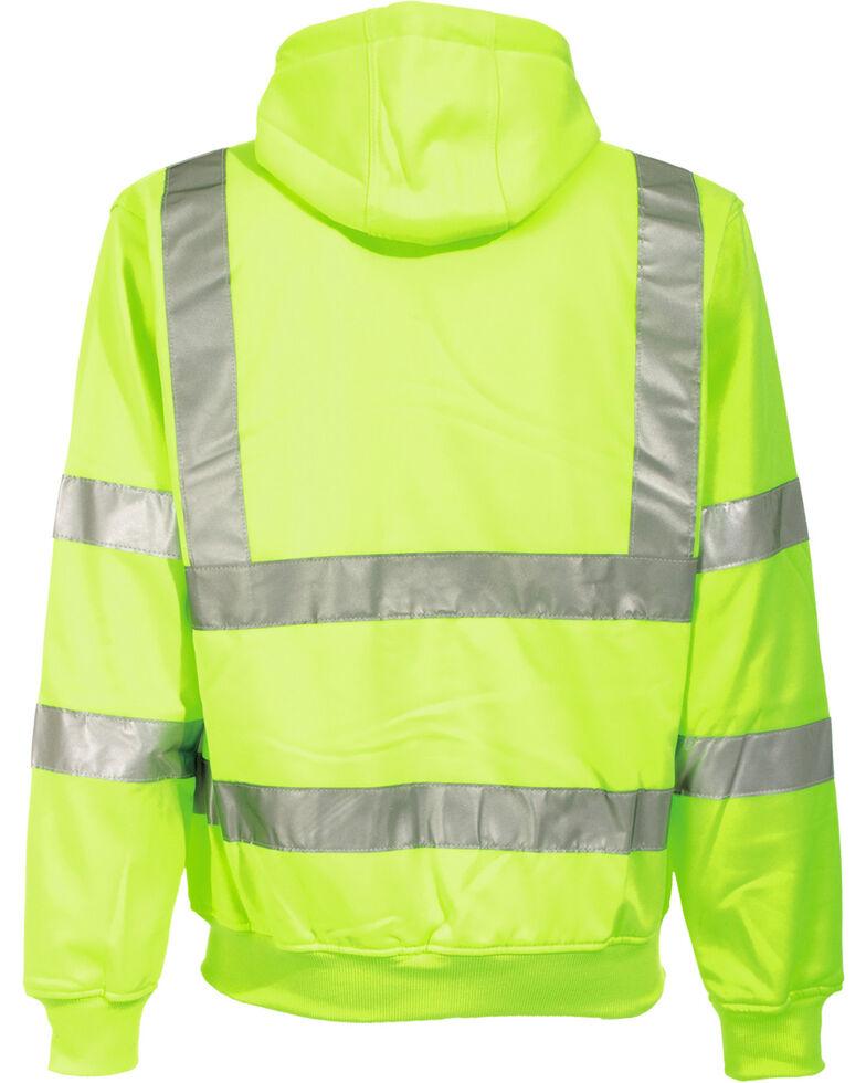 Berne Yellow Hi-Visibility Lined Hooded Sweatshirt - Big & Tall, Yellow, hi-res