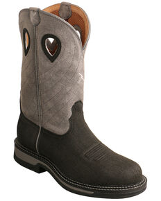 Twisted X Men's Waterproof Western Work Boots - Steel Toe, Brown, hi-res