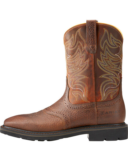 Ariat Sierra Men's Shadowland Mesa Work Boots - Steel Toe, Brown, hi-res
