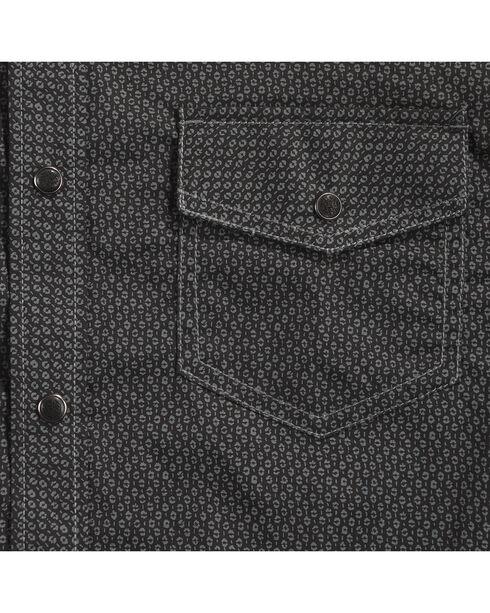 Cody James Men's Marble Falls Long Sleeve Shirt - Tall, Black, hi-res
