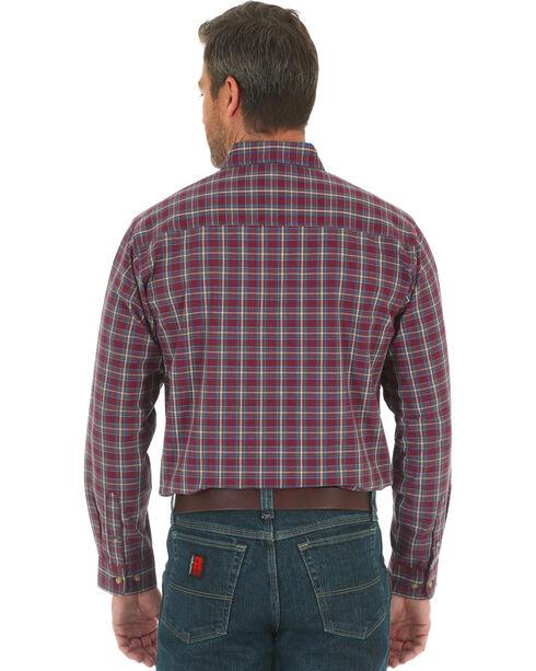 Wrangler Men's Burgundy Riggs Workwear Foreman Work Shirt , Burgundy, hi-res