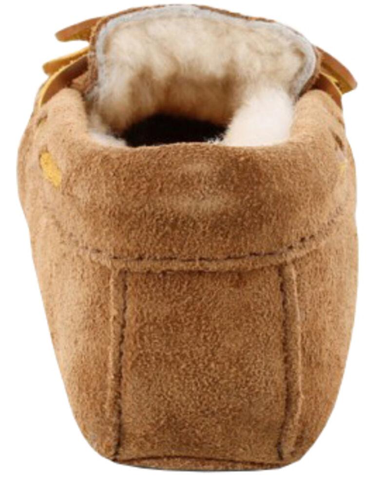 Minnetonka Women's Sheepskin Softsole Moccasins, Tan, hi-res