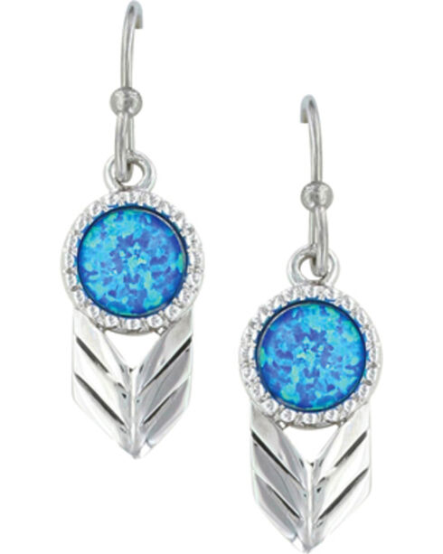Montana Silversmiths Women's Perfect Sky Flower Earrings , Silver, hi-res
