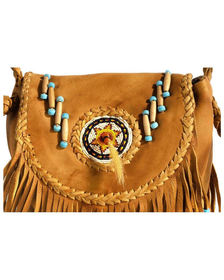 Kobler Leather Rossette Fringe Crossbody Bag, Khaki, hi-res