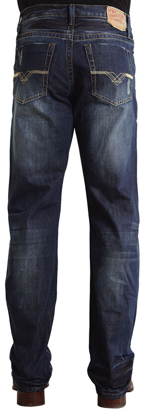 "Stetson Modern Fit ""V"" Stitched Jeans, Dark Stone, hi-res"