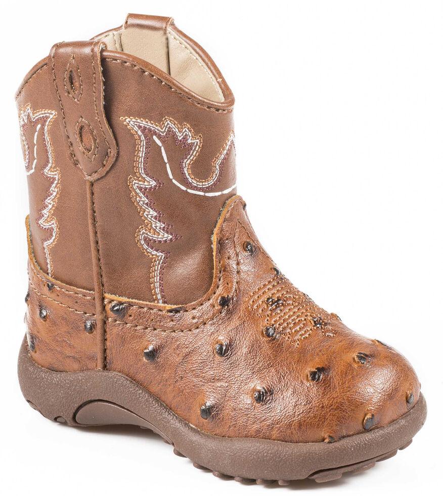 Roper Infant Boys' Ostrich Print Cowbabies Boots, , hi-res