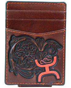HOOey Men's Signature Money Clip, Brown, hi-res
