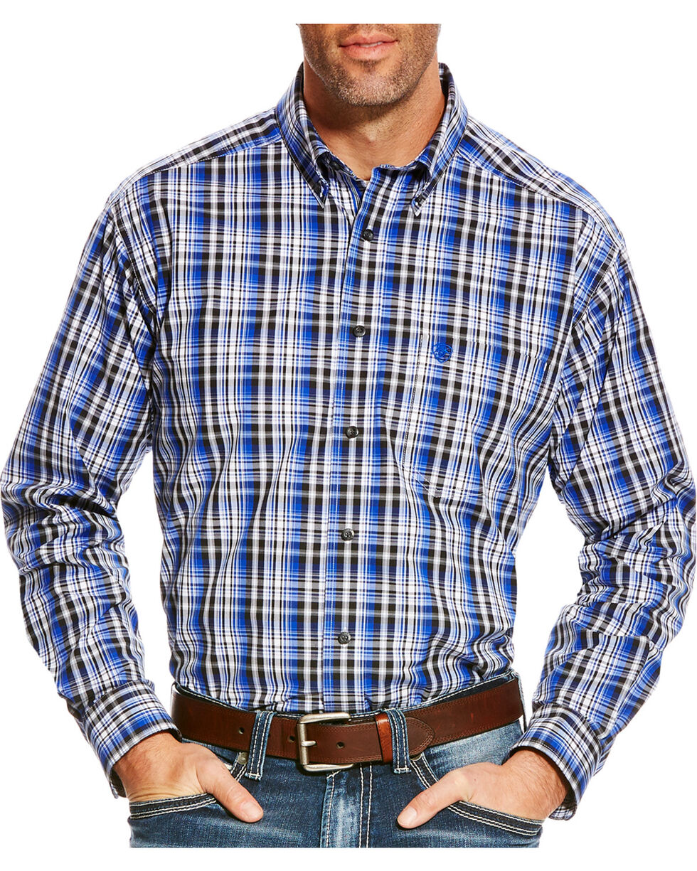 Ariat Men's Blue Brookwood Plaid Western Shirt , Multi, hi-res