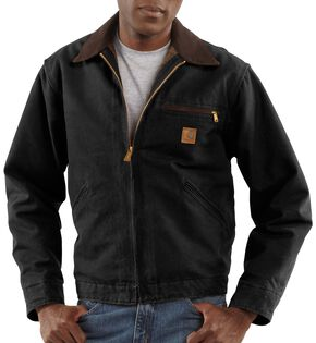 Carhartt Blanket Lined Sandstone Detroit Work Jacket - Big & Tall, Black, hi-res