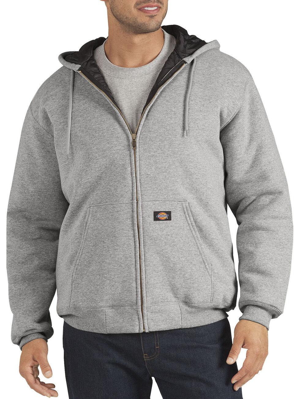 Dickies Heavyweight Quilted Fleece Zip-Up Hoodie - Big & Tall, Hthr Grey, hi-res