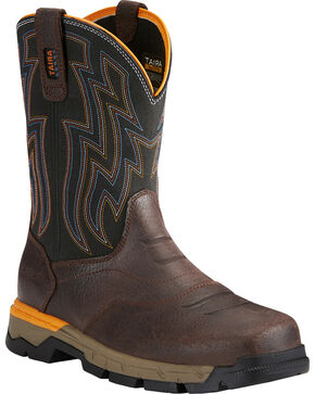 Ariat Men's Rebar Flex Brown Western Work Boots - Composite Toe, Chocolate, hi-res