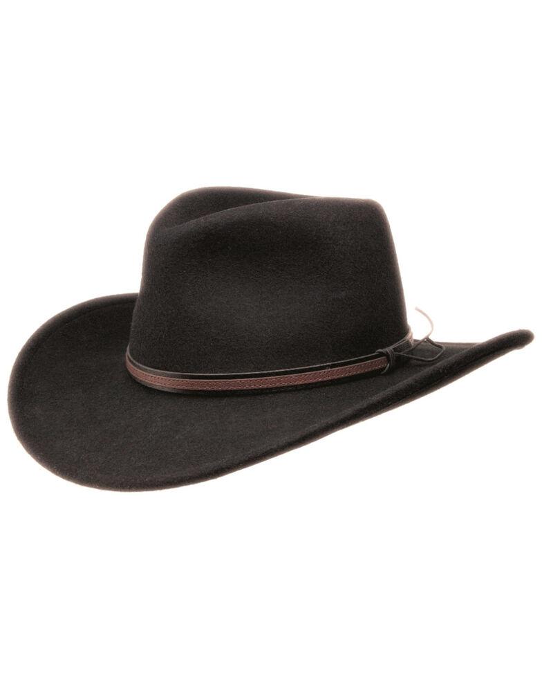 Black Creek Men's Black Crushable Wool Hat, Black, hi-res
